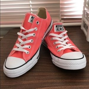 Coral Converse shoes